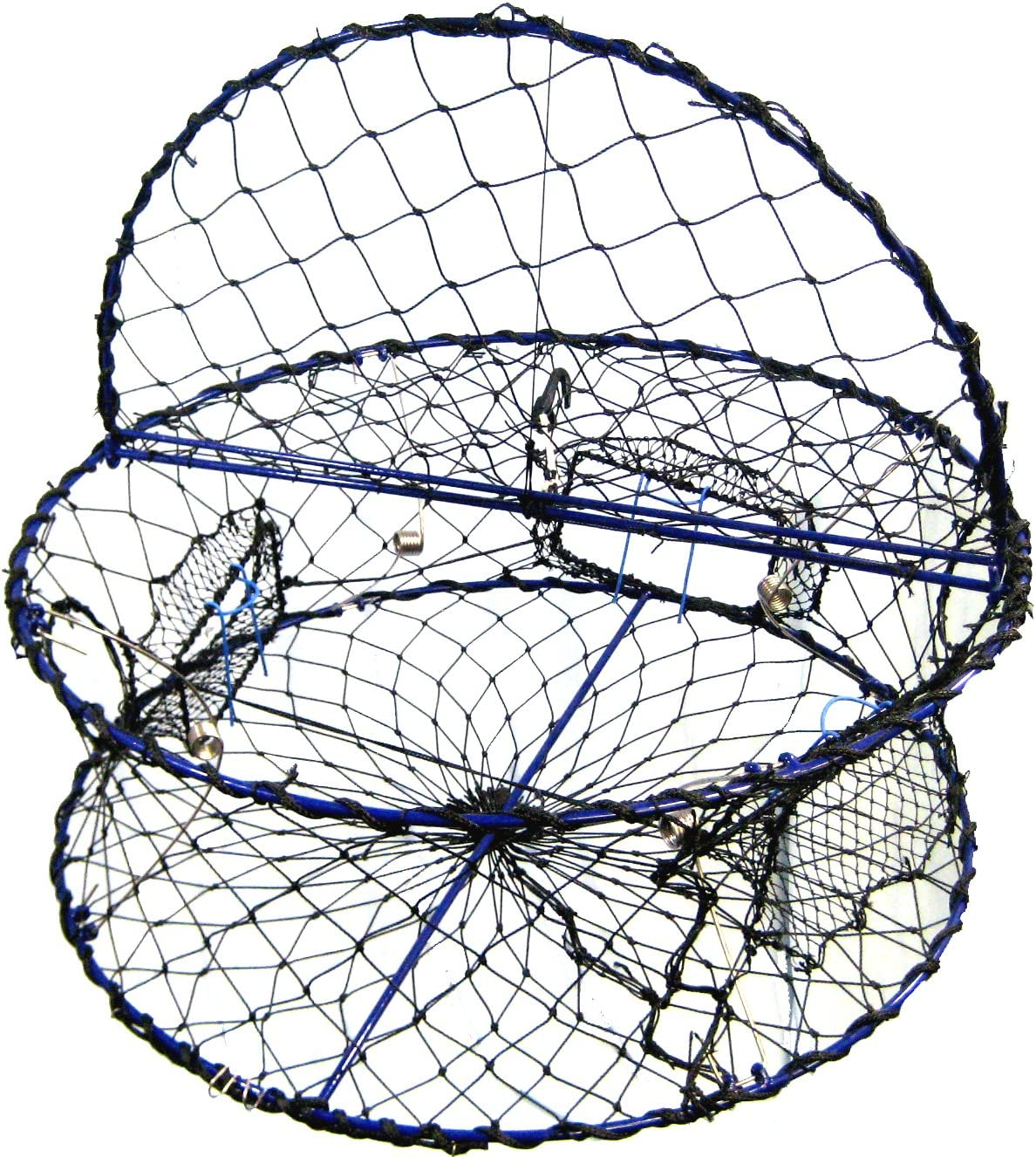 """Amazon.com : Promar Heavy Duty Collapsible Crab Pot, 32"""" x 12"""" Poly with  Hinged Tending Door - Alaska Legal : Fishing Bait Traps : Sports & Outdoors"""