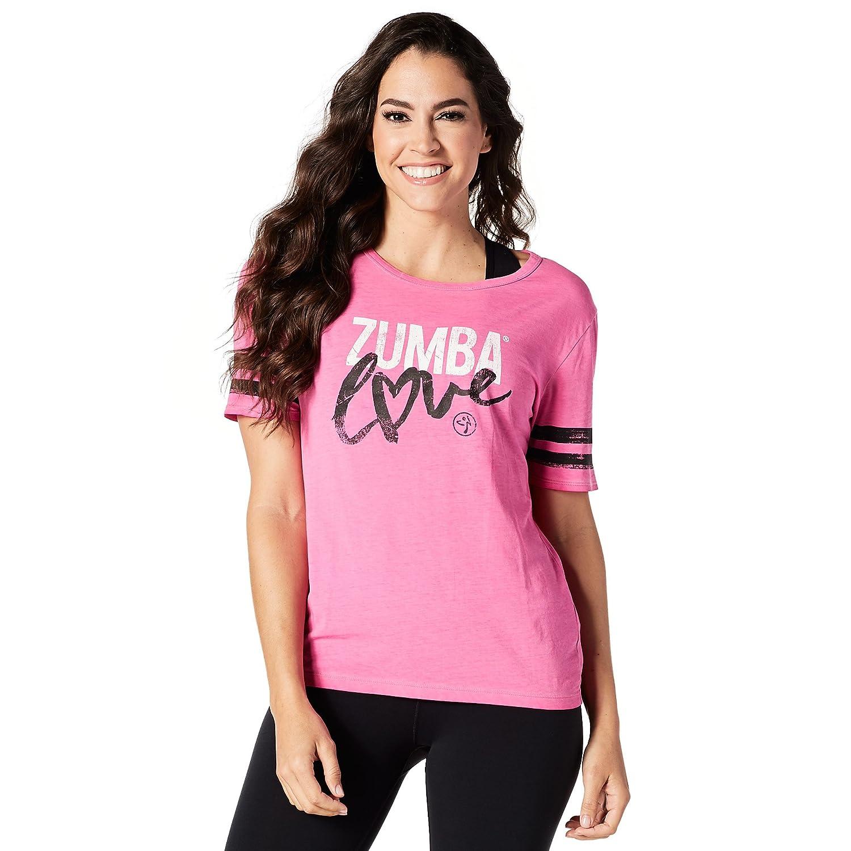 Zaawansowane Zumba Fitness Women's Love T-Shirt, Shocking Pink, X-Small: Amazon ZC96