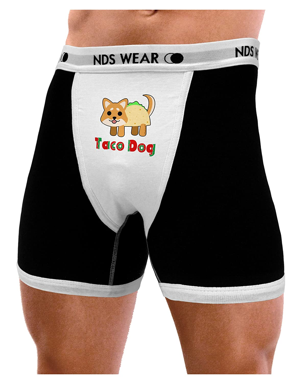 NDS Wear TooLoud Cute Taco Dog Text Mens Boxer Brief Underwear