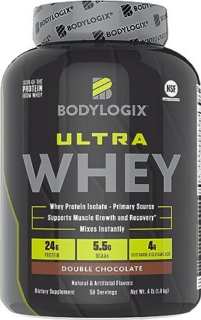 Bodylogix Ultra Whey NSF Certified Protein Powder, Double Chocolate, 4 Pounds