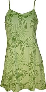product image for Paradise Found Womens Monstera Palm Princess Seam Mini Sundress in Kiwi Green - L