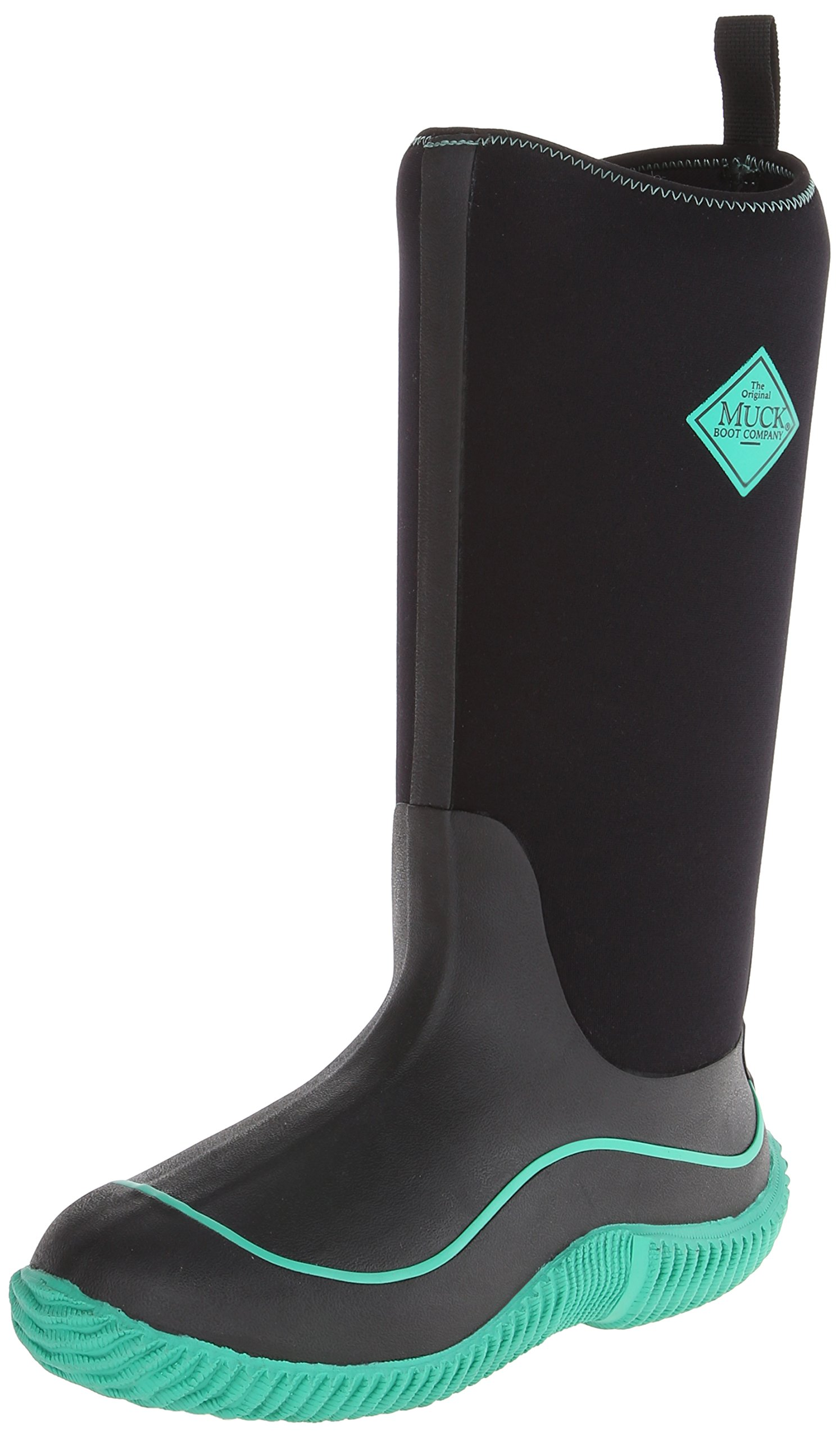 Muck Boots Hale Multi-Season Women's Rubber Boot, Black/Jade, 6 M US