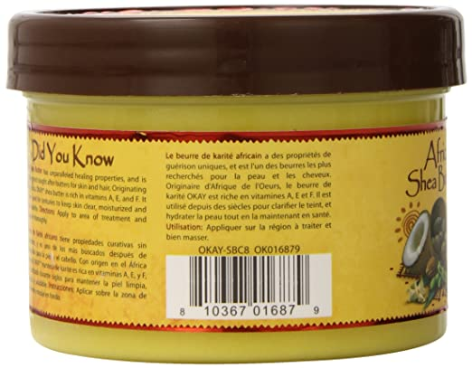 Amazon.com : Okay Shea Butter Creamy Smooth, 8 Ounce : Body Butters : Beauty