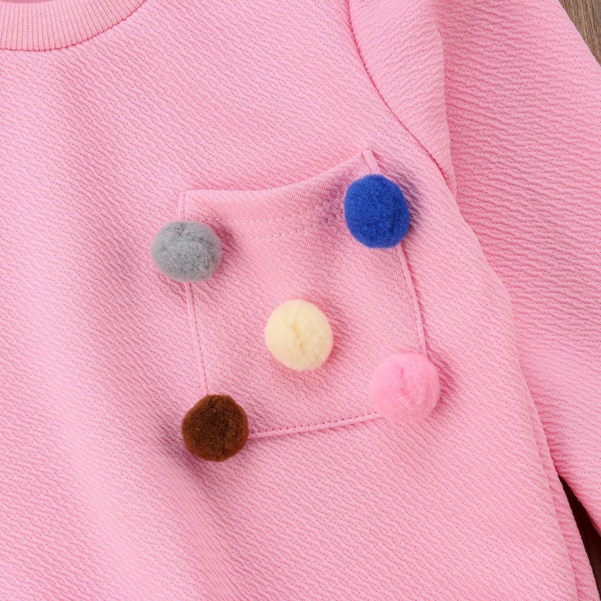 Kid Little Girl Fall Winter Skirt Outfit Set Casual Toddler Sweatshirt Tops Short Hip Skirt