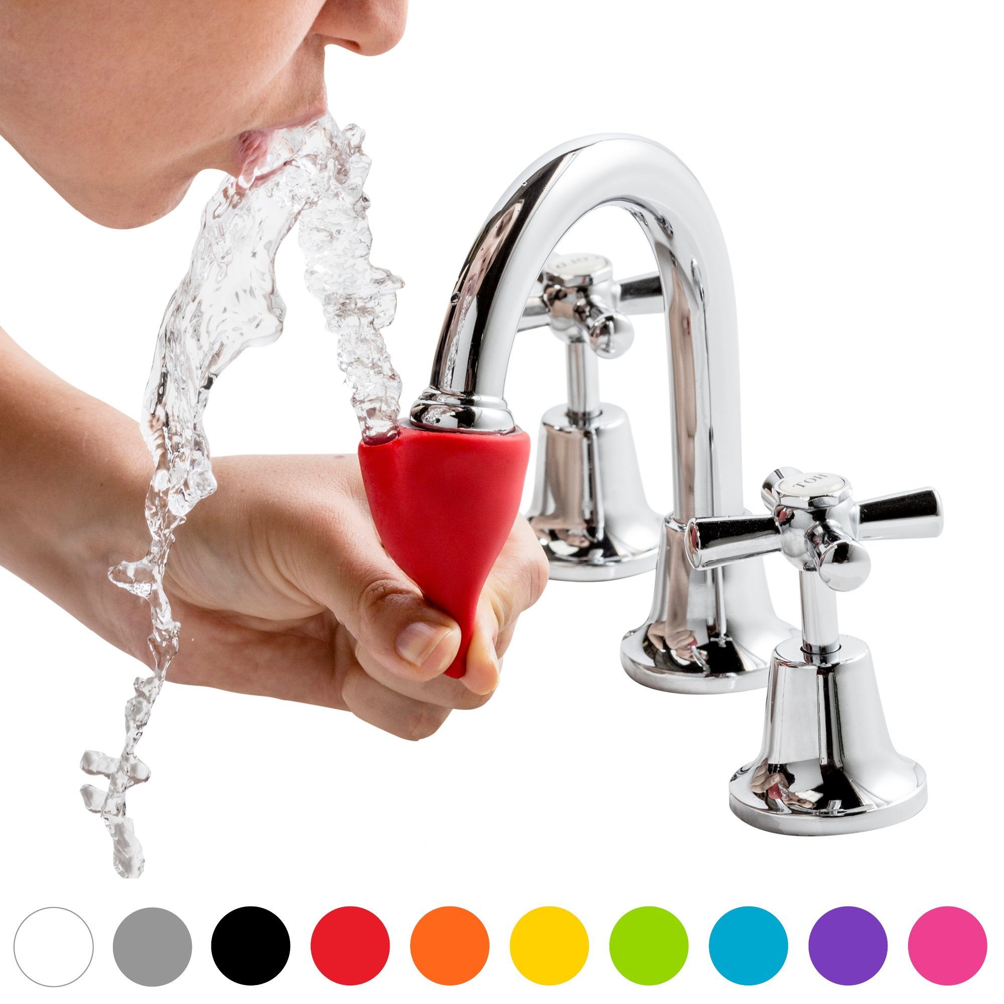 Dreamfarm Tapi - Faucet Drinking Fountain, Fits Most Taps (Assorted Colors) by Dreamfarm (Image #2)