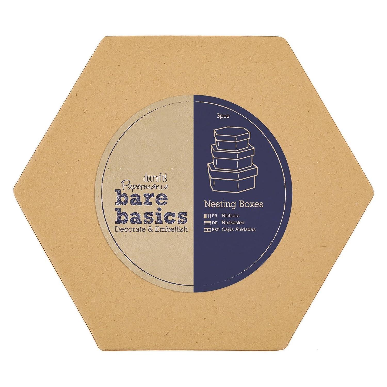 Papermania - Cajas decorativas rectangulares (tamaño pequeño, mediano y grande): Amazon.es: Hogar