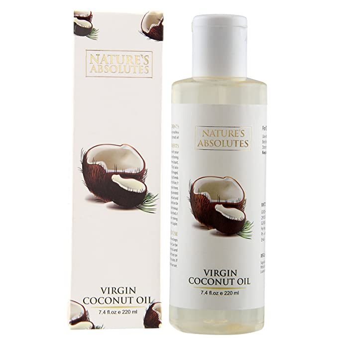 Buy Nature S Absolutes Virgin Coconut Oil For Hair And Skin 220ml Online At Low Prices In India Amazon In