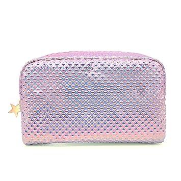 648b163cf4 Amazon.com   Cosmetic Bag Makeup Bag Toiletry Travel Bag Handy Holographic  Bag Large Protable Wash Pouch Waterproof Zipper Handbag Carry Case  Organizer ...