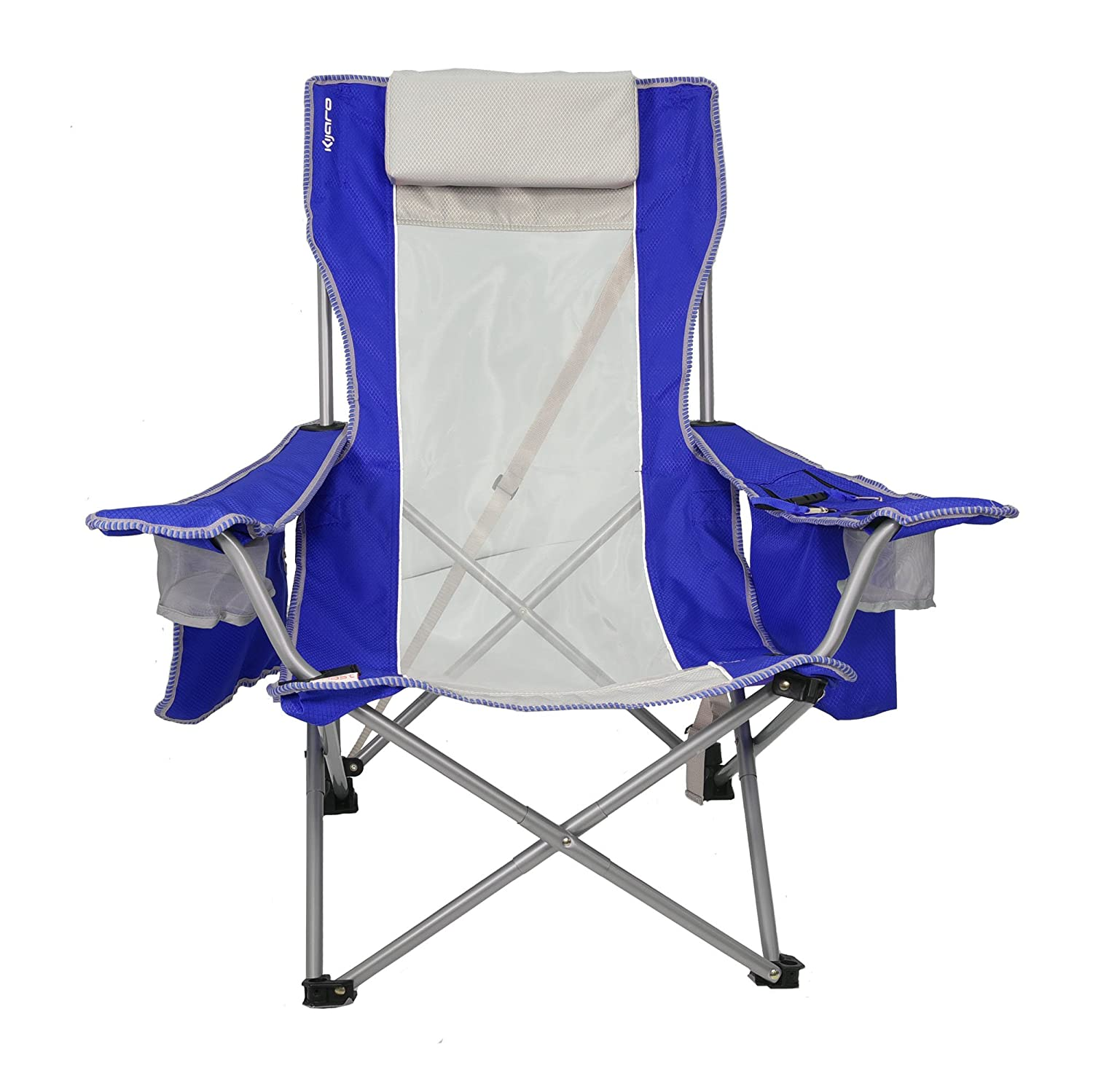 Outstanding Details About Kijaro Coast Folding Beach Sling Chair With Cooler Maldives Blue Gmtry Best Dining Table And Chair Ideas Images Gmtryco