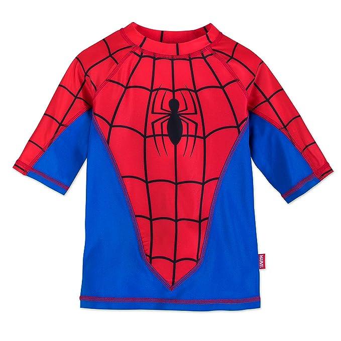 Amazon.com: Marvel Spider-Man Rash Guard para niños, azul ...
