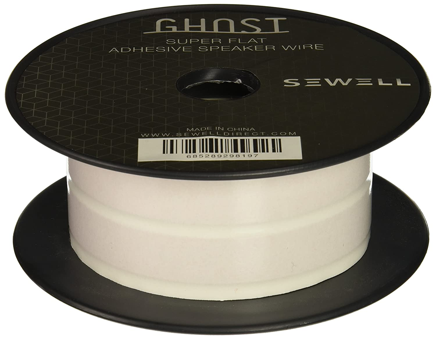 Sewell Ghost Wire Super Flat Adhesive Speaker 16 Wiring Outdoor Speakers To Stereo Awg 2 Conductor 50 Ft Spool White Home Audio Theater