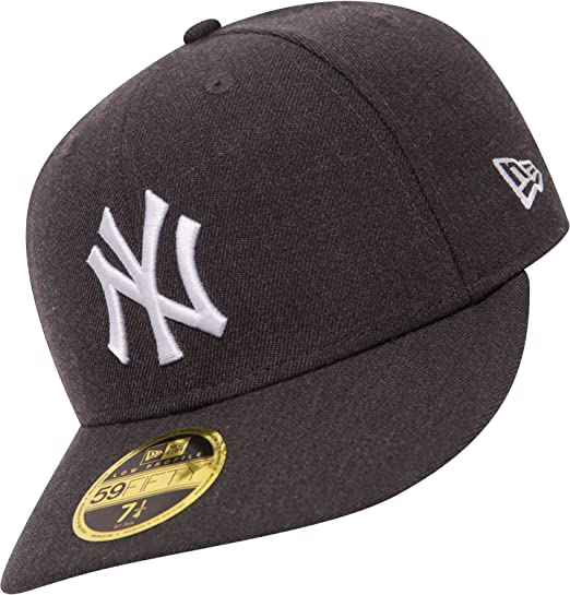 86f4ec96cda NEW ERA 59FIFTY LOW PROFILE FITTED CAP. HEATHER NEW YORK YANKEES. GRAPHITE   Amazon.co.uk  Clothing