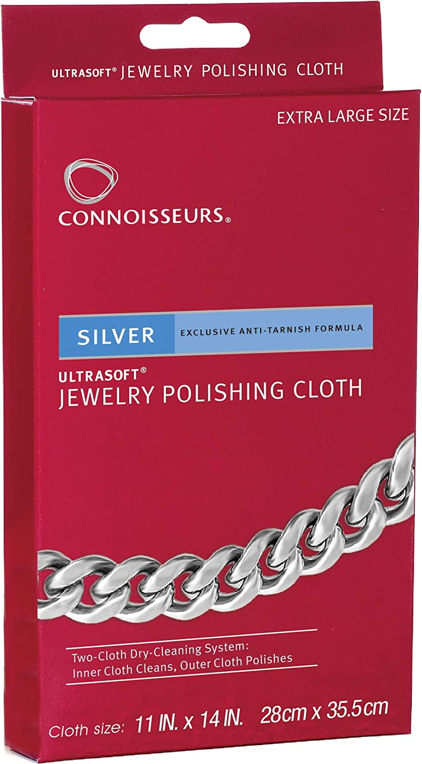 B0000UZ5P0 CONNOISSEURS Silver Polishing Cloth Jewelry Cleaner 817PzvmTELL