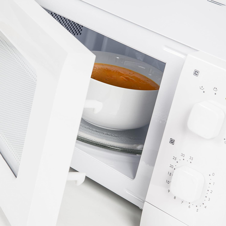 Daewoo QT1 Encimera 14L 600W Blanco - Microondas (Encimera, 14 L, 600 W, Giratorio, Blanco, 25,4 cm): Amazon.es: Hogar