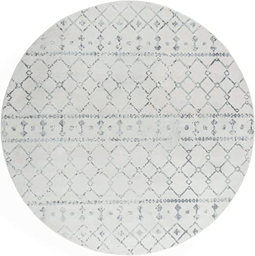 Tayse Ayden Cream 6 Foot Round Area Rug