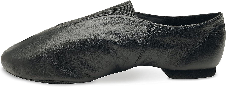 Danshuz Economy Leather Jazz Shoe Adult Black or Tan