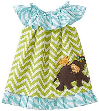 5fa50182905a Amazon.com  Mud Pie Baby-Girls Safari Elephant Dress  Infant And Toddler  Dresses  Clothing