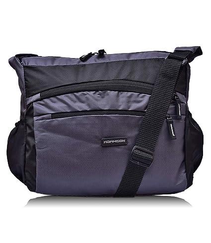 Adamson Unisex Front Double Pockets Blue Side Bag (ASB-069)