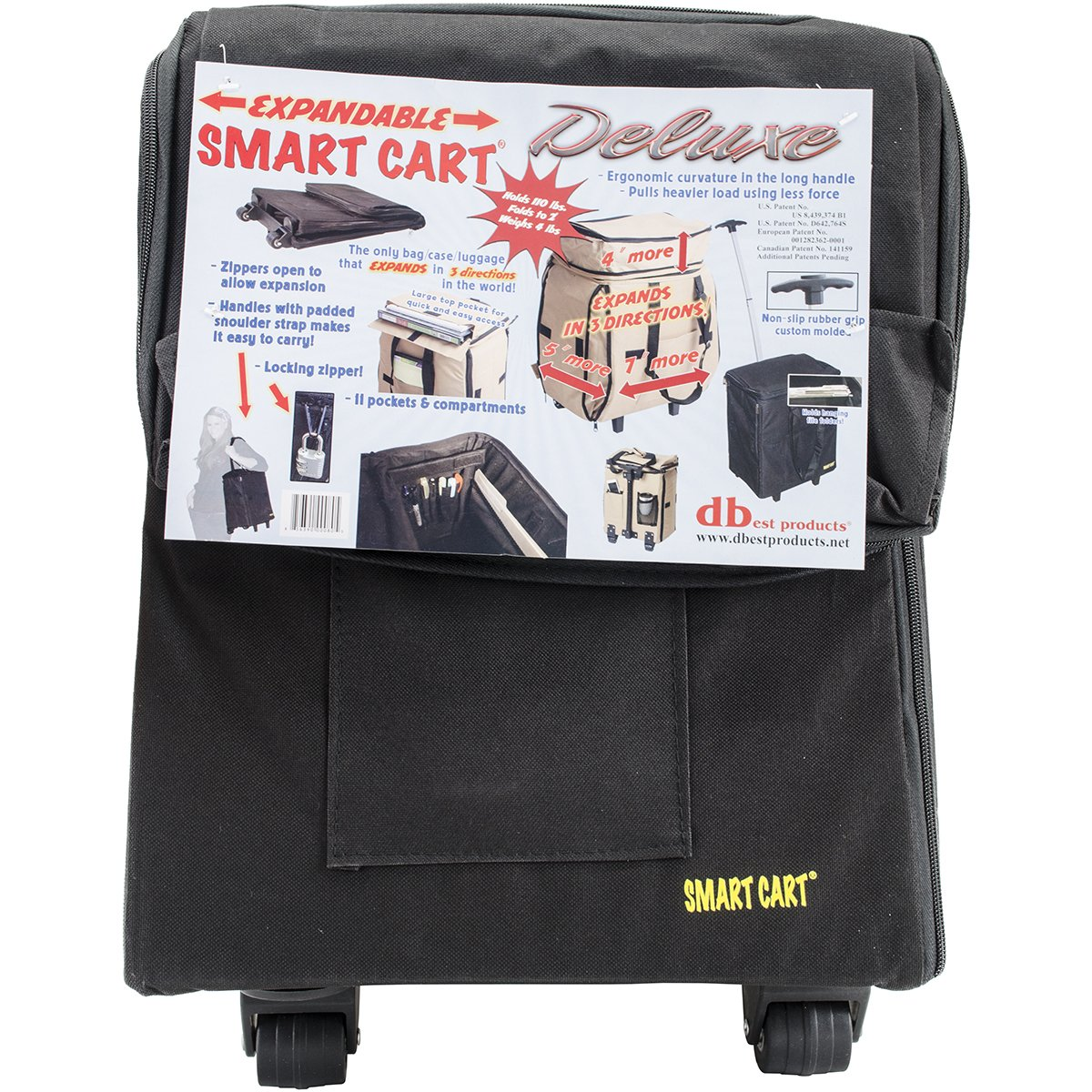 2b898fae9442 Smart Cart, Deluxe, Black Rolling Multipurpose Collapsible Basket Cart  Scrapbooking