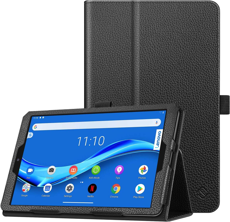 "Fintie Case for Lenovo Tab M8 HD/Smart Tab M8 / Tab M8 FHD, Premium PU Leather Folio Cover for Lenovo Tab M8 HD TB-8505F TB-8505X / Smart Tab M8 TB-8505FS / Tab M8 FHD TB-8705F 8"" Tablet, Black"