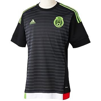 adidas para Hombre de Manga Corta Camiseta de México del Jugador-del Negro  Top  828d029e2c952