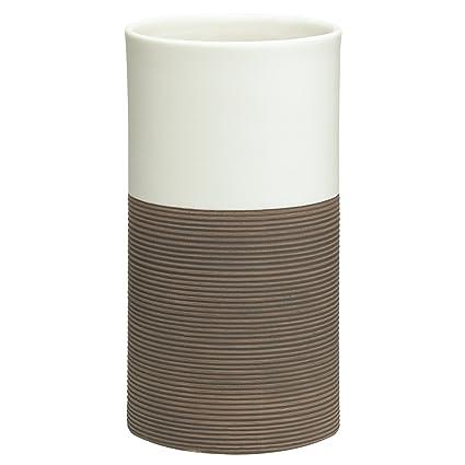 Sealskin Vaso para Cepillo de Dientes Doppio, 6.9 x 6.9 x 12.6 cm, Porcelana