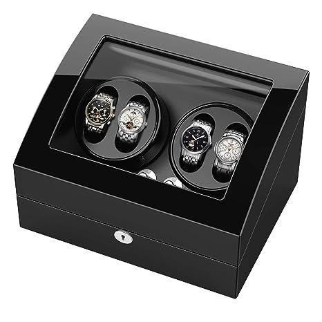 Estuche bobinadora para relojes, Cargador para relojes automáticos Rolex, estuche de madera + acabado