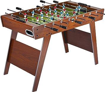 Leomark Futbolín de Mesa futbolines Classic, mesa de madera para jugar al futbolín, Dimensiones: 122 x 61 x 79(A) cm: Amazon.es: Juguetes y juegos