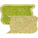 Marvelous Molds Rosette Ruffle Simpress Silicone Mold | Cake Decorating with Fondant Gum Paste Icing