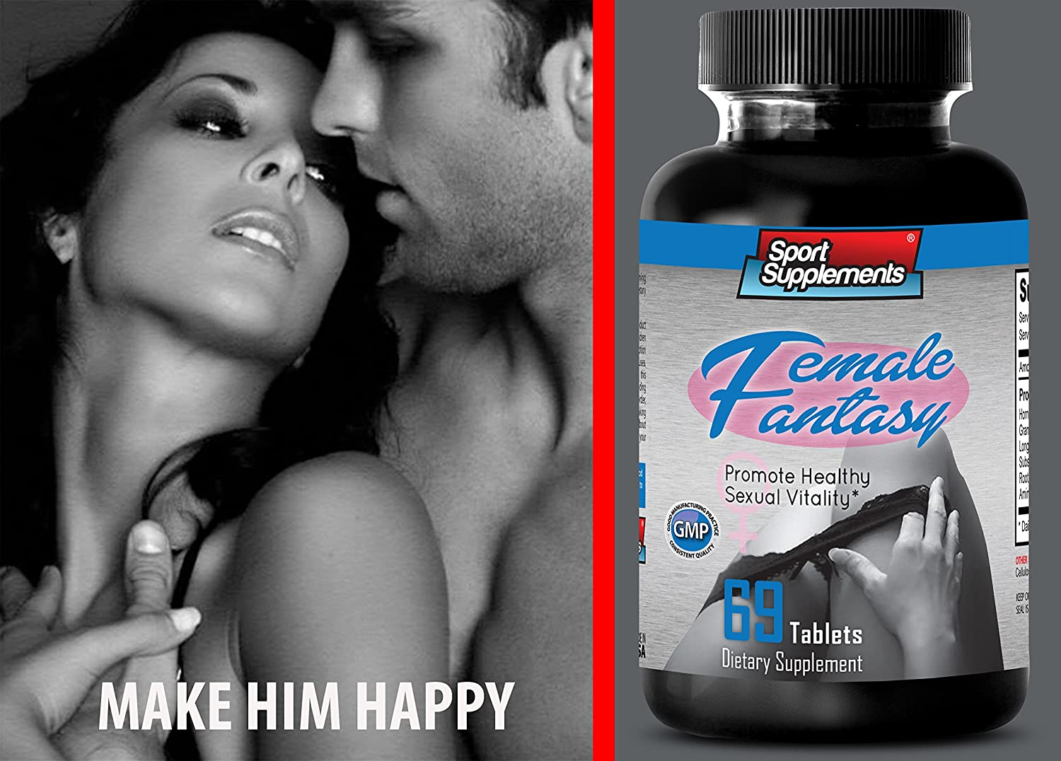 Amazon.com: Sex Drive Booster for Females - Female Fantasy 742mg - To  Improve Women's Sexual Desire, Overall Satisfaction, Increases Sexual Flame  (1 Bottle ...