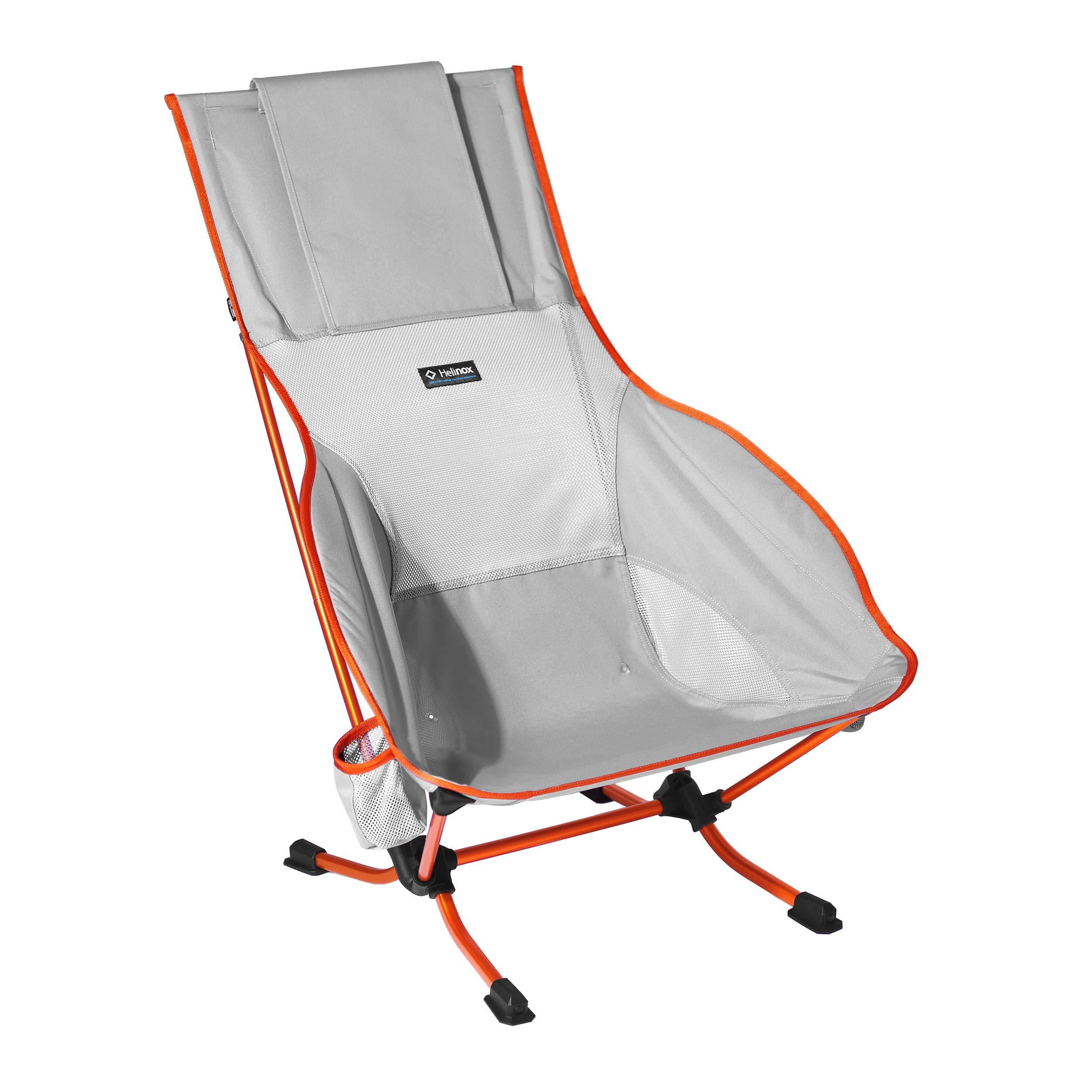 Helinox Playa Lightweight High-Back Collapsible Beach Chair, Grey
