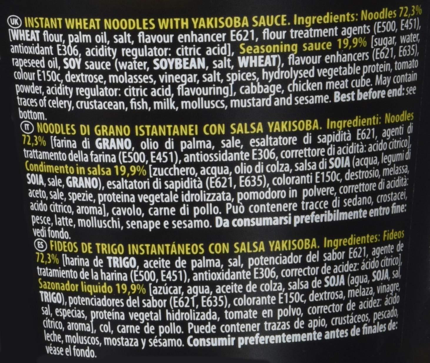 Nissin Noodles Con Salsa Japonesa Vaso 90Gr: Amazon.es: Alimentación y bebidas
