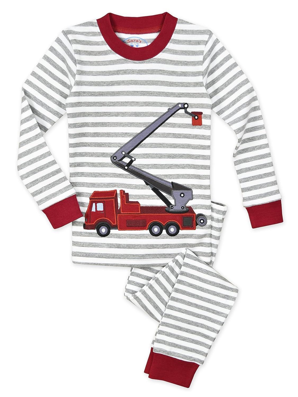 Saras Prints Boys Big Unisex Kids All Cotton Long John Pajamas