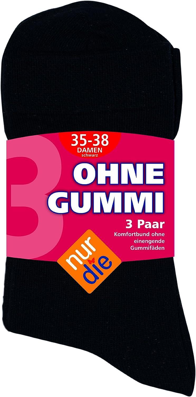FR Femme Nur Die 487805//Damen Ohne Gummi Socken 3er Chaussettes Bleu Maritim 190 Taille Fabricant : 39-42