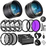 Neewer 58mm Kit de Lentes y Filtros: Lente Gran Angular, Teleobjetivo y Set Filtros (Macro, ND, UV, CPL, FLD) para Canon…