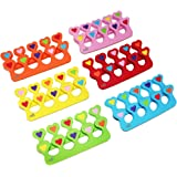 Colorful Heart Toe Separators - Cute Design for Kids - Super Soft, Durable 10 Packs ZMOI
