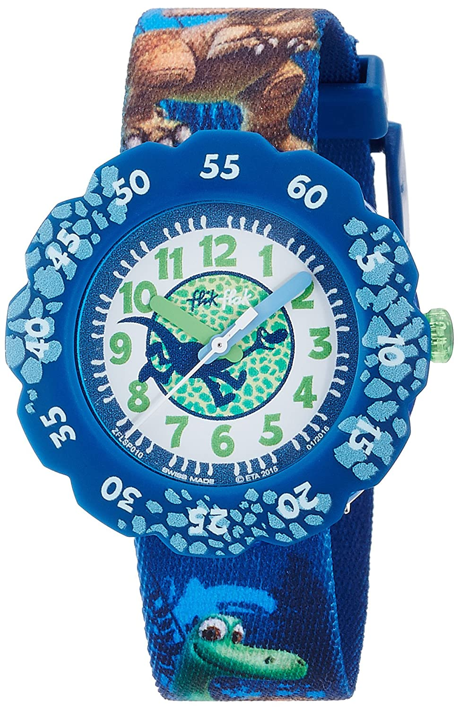 Flik Flak Unisex Kinder Datum klassisch Quarz Uhr mit Stoff Armband ...