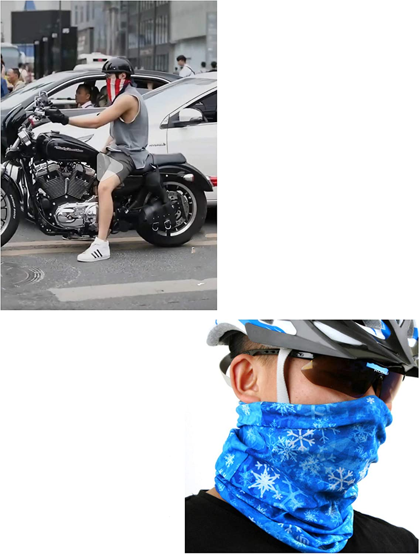 6 Pack Headwear Outdoor Sports Head Wrap Seamless Anti UV Windproof Multifunctional Headband Bandannas for Men Women Cycling Motorcycling Fishing Hiking