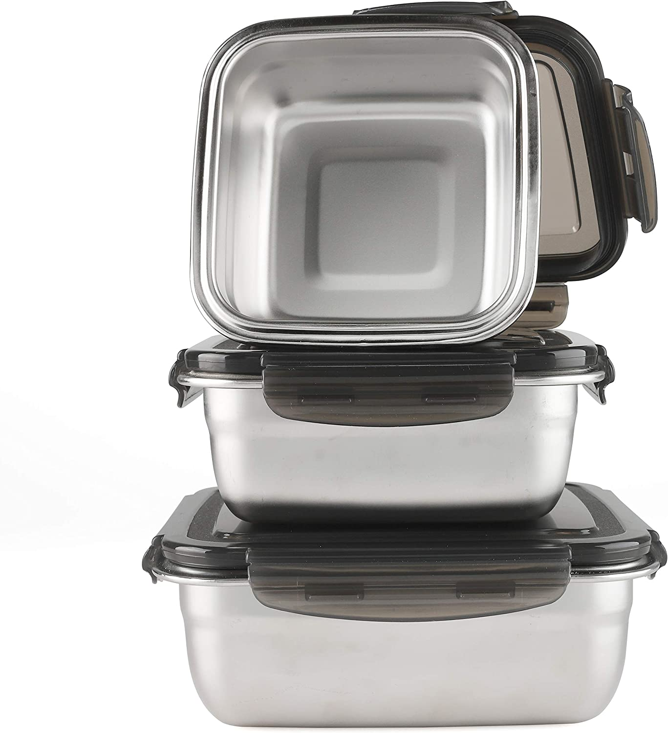 Stainless Steel Food Storage Container Set Reusable Snack Container Leakproof Nested Food Storage Box