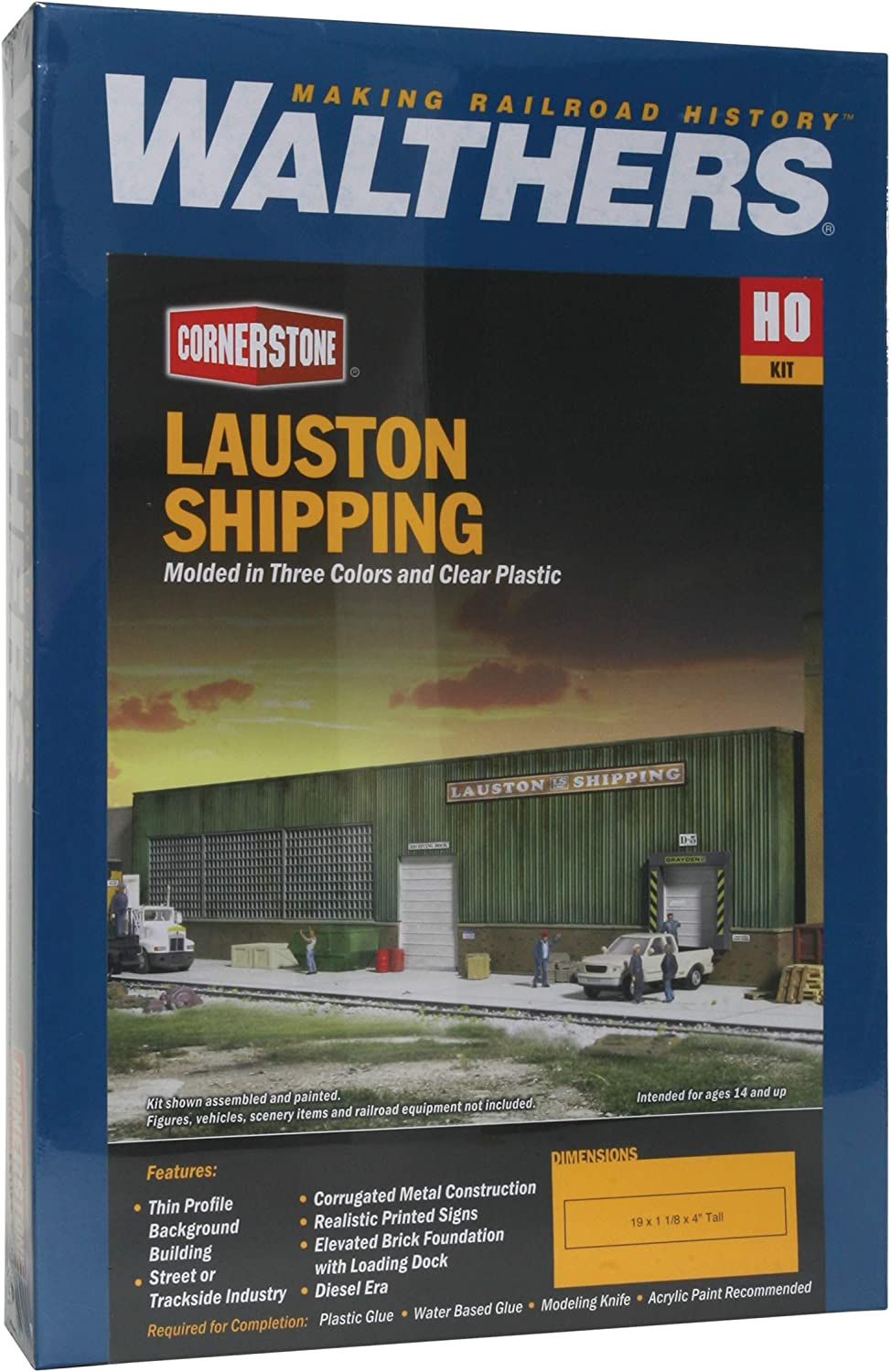 Walthers Cornerstone HO #933-3191 Lauston Shipping Thin Background Building Kit