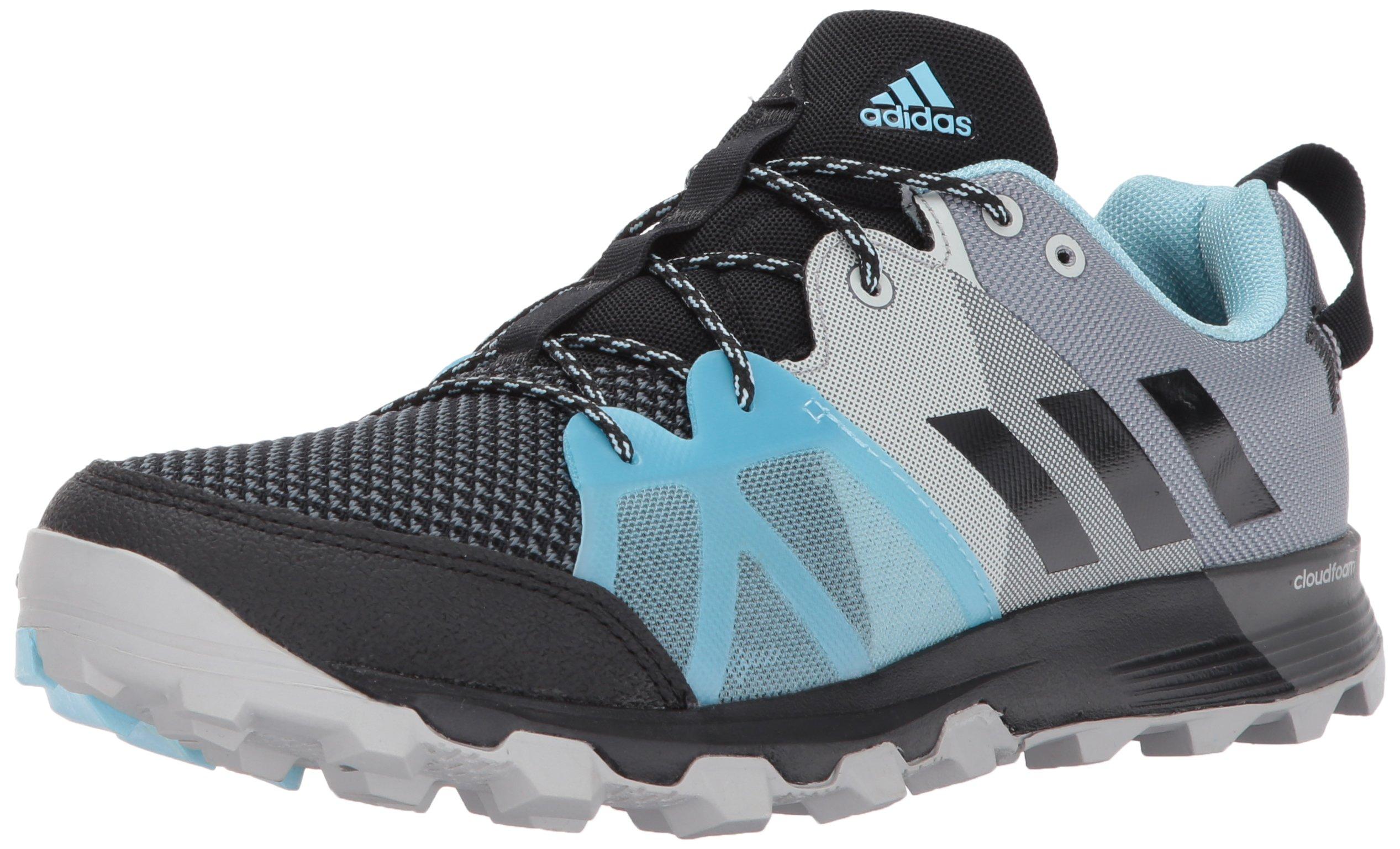 adidas outdoor Women's Kanadia 8.1 Trail W Running Shoe Black/Icey Blue, 10 M US