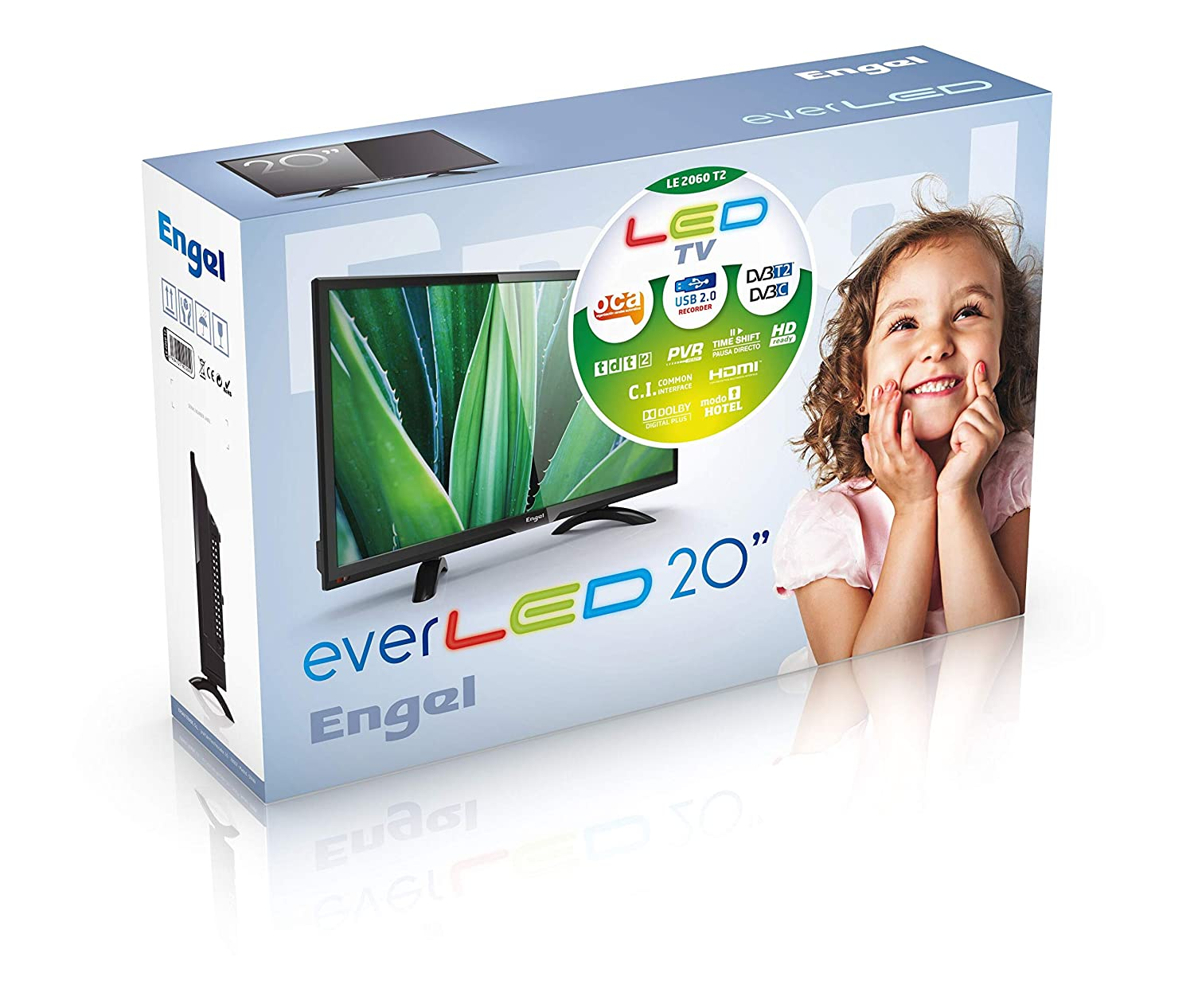 TV Televisión Televisor Engel Ever-LED LE2050 20 - HD: Amazon.es ...