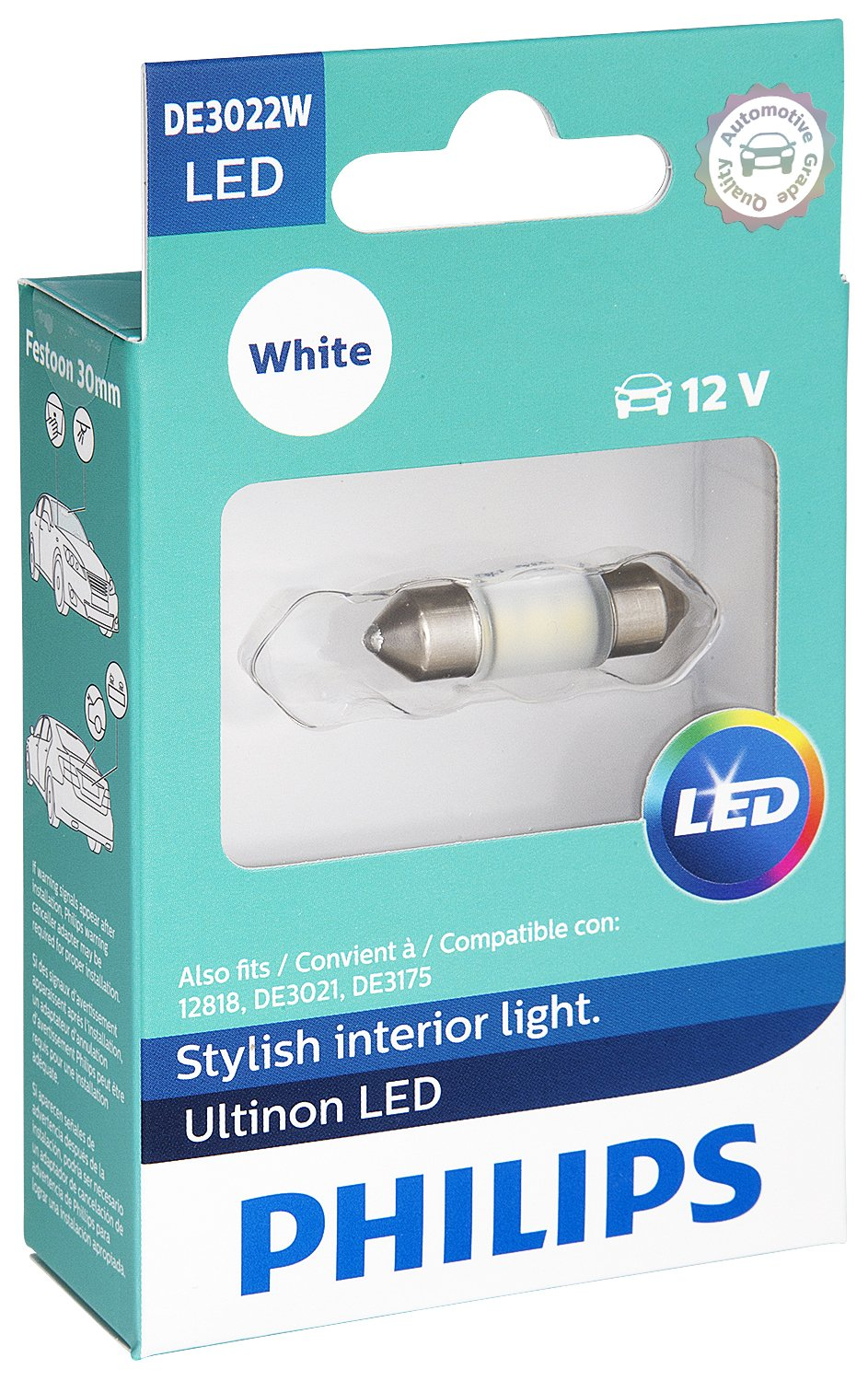 Amazon.com: Philips DE3022 Ultinon LED Bulb (White), 1 Pack ...