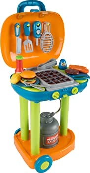 Hey! Play! Realistic Sounds and Grate Lights Grill Sets For Kids