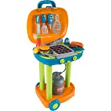 Hey!Play! 80-PP-TK081711 Bbq Grill Toy Set Kids Dinner Playset with Realistic Sounds and Grate Lights, Multicolor
