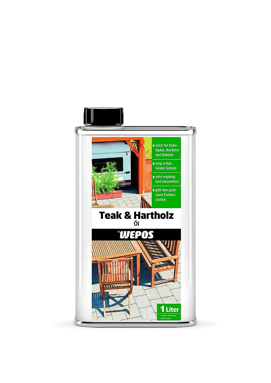 Wepos 04003 - Aceite para teca y madera maciza (1 L) 2000300657 B002GWW2DI