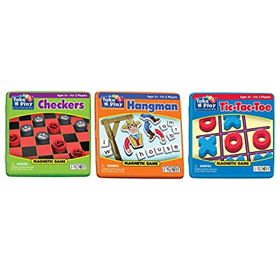 Patch - Play Anywhere Bundle - Checkers, Tic-Tac-Toe and Hangman: Toys & Games