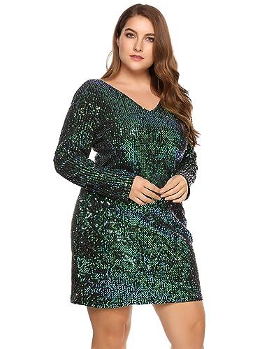 Involand Women Glitter V-Neck ...