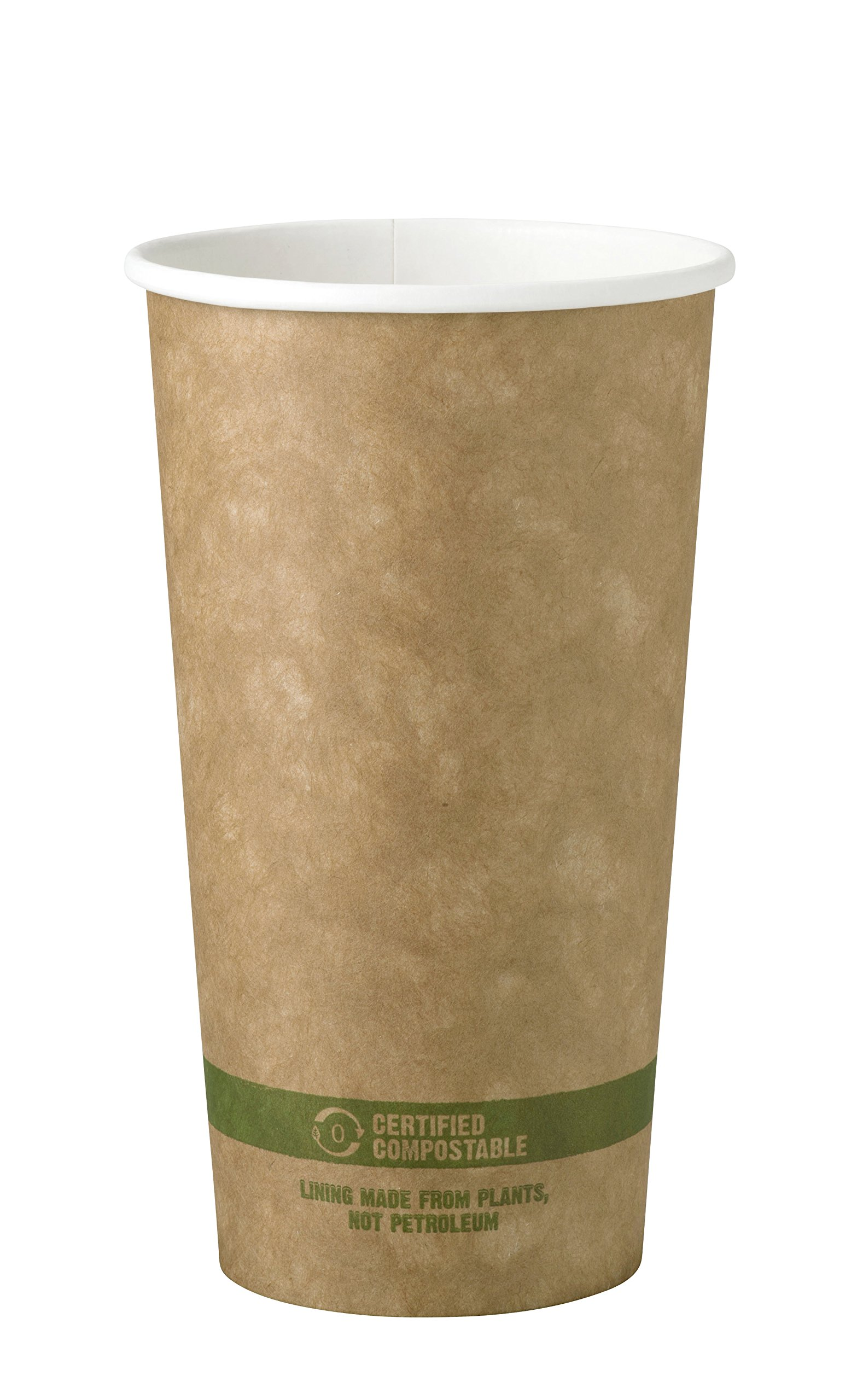 World Centric CU-PA-20K 100% Compostable FSC Mix Paper Hot Cups, 20 oz, Kraft (Pack of 1000)