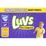 Luvs Ultra Leakguards Diapers, Size 5, 140 Count by Luvs